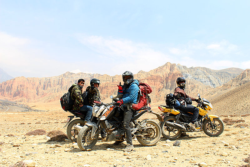 upper mustang motorbike travel