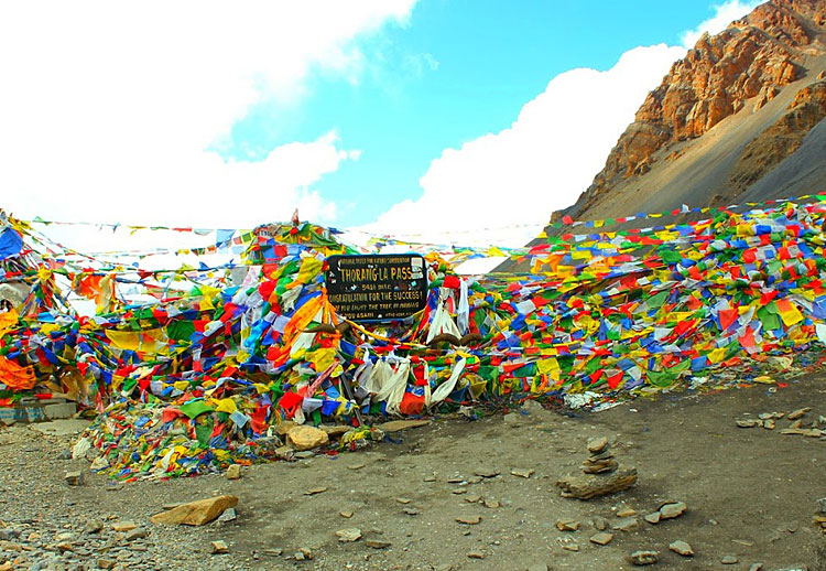 At thoronla pass, Nepal