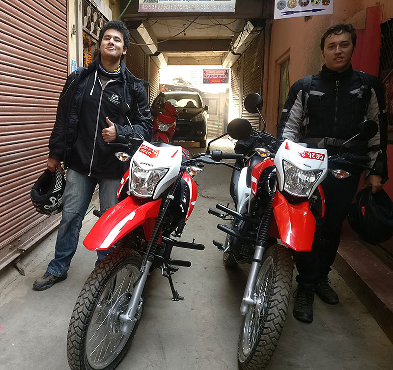 offroad ride in nepal with hondaxr190cc