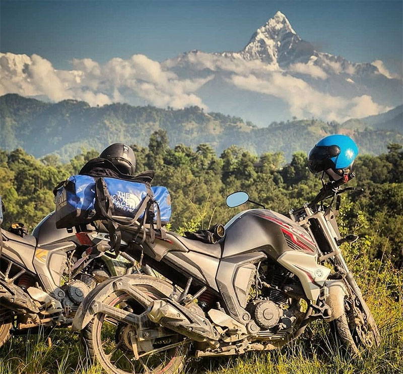 motorcycle trip in nepal