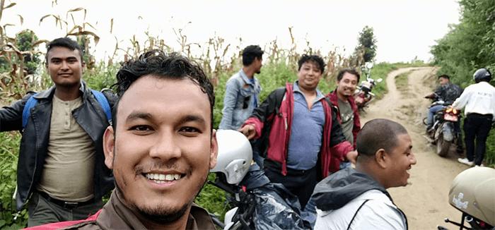 teen dhare waterfall kathmandu