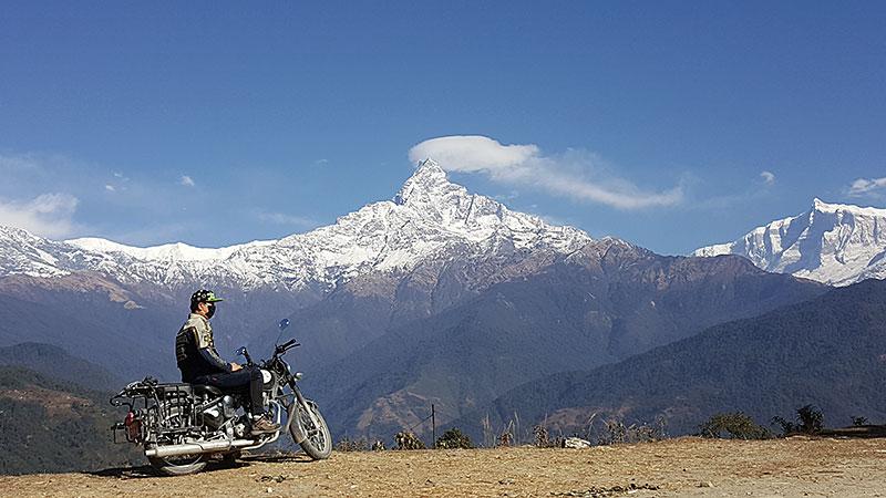 biking in pokhara