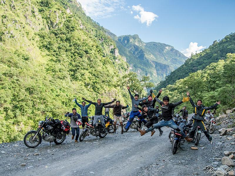 bullet bike trip in nepal