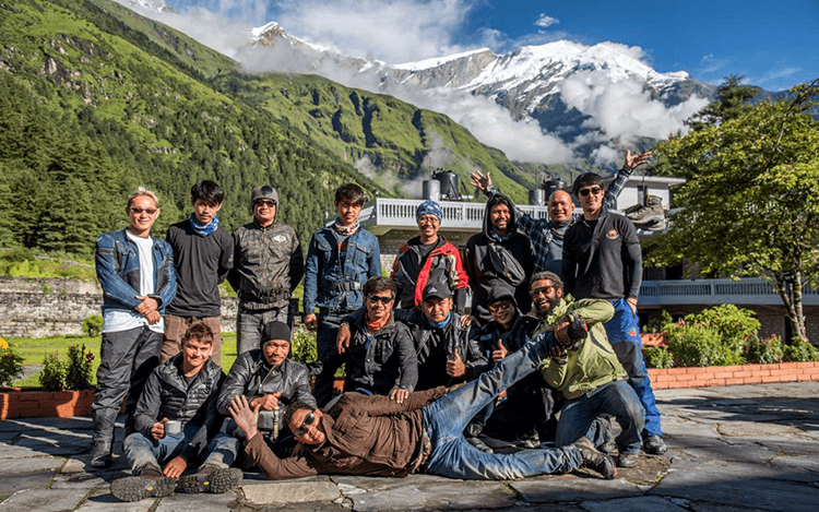 motorcycle touring to Nepal