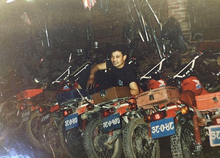 details about babu raja dangol in city motorbike, thamel