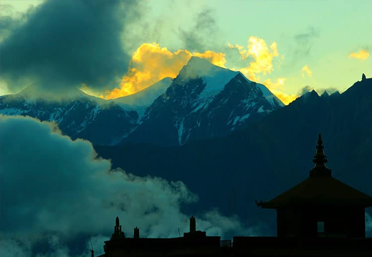 Mountains seen from Muktinath, Nepal