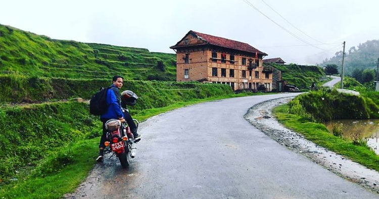 ride to chitlang, nepal