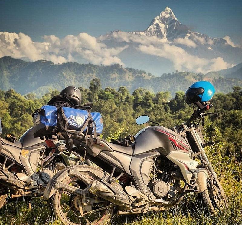 motorcycle trip in nepal