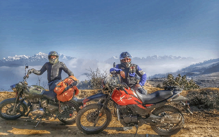 motorbike tour to Everest view point, Nepal