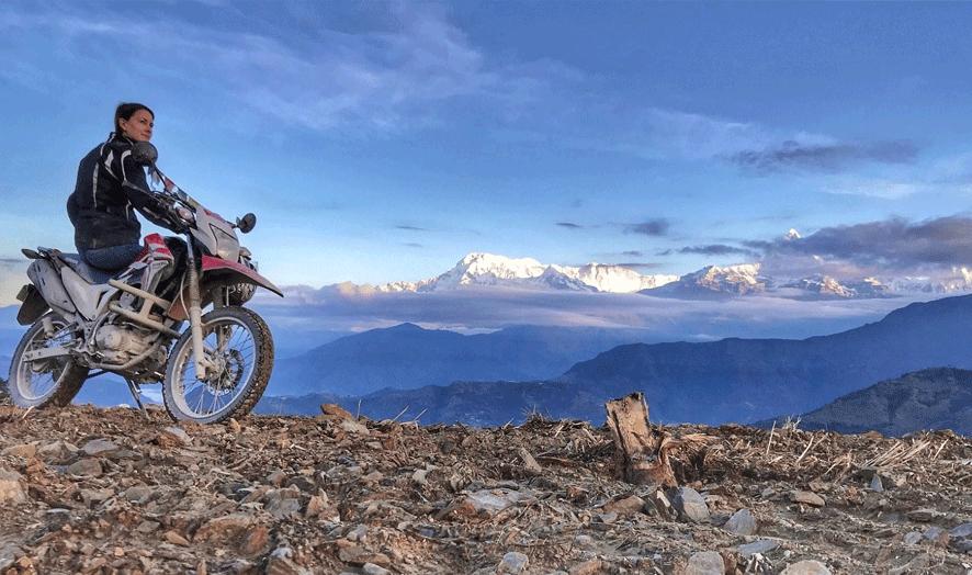 motorbiking trip in nepal