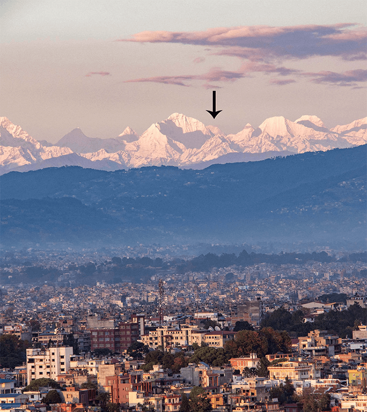 mt everest view from kathmandu valley