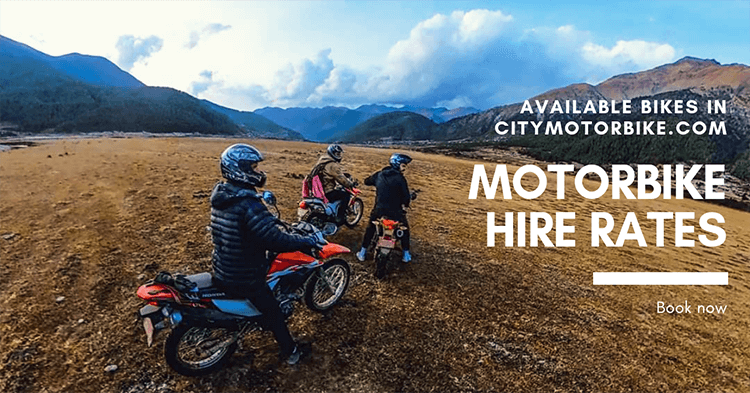 motorbike hire rates in Nepal