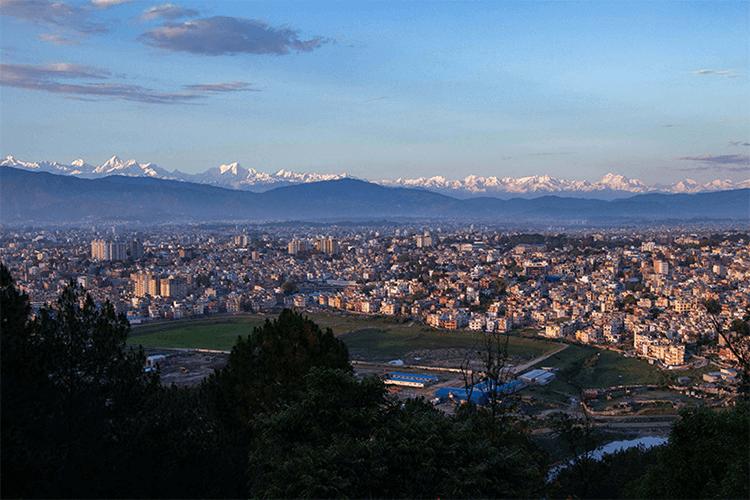 mountains seen from kathmandu valley