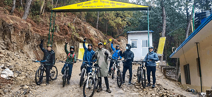 cycling in shivapuri national park